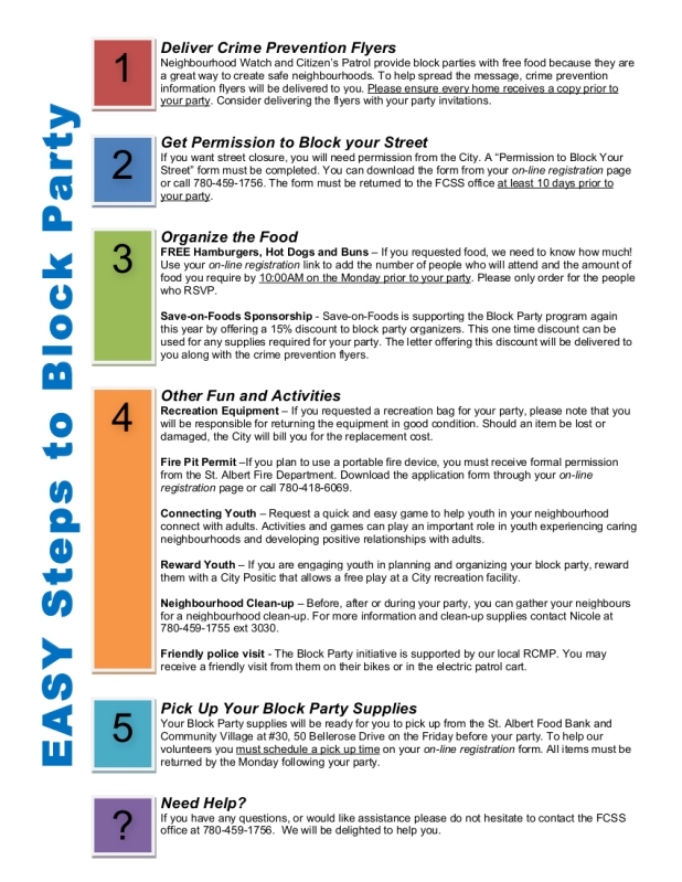 The 5 easy steps to host a Block Party | St. Albert Good Neighbours